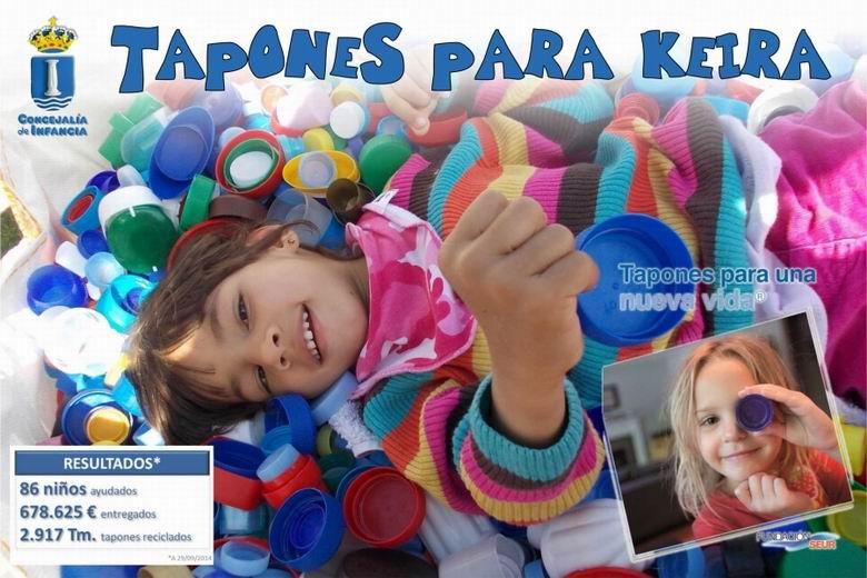 """Nueva campaña solidaria en Humanes: """"Tapones para Keira"""""""