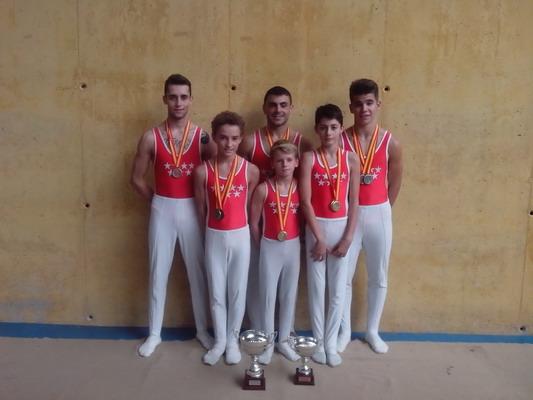Importantes éxitos para los gimnastas de Getafe.