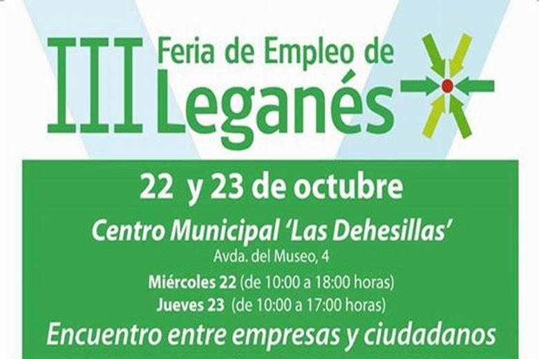 La III Feria de Empleo de Leganés ofertará 679 puestos de trabajo de 8 sectores laborales distintos