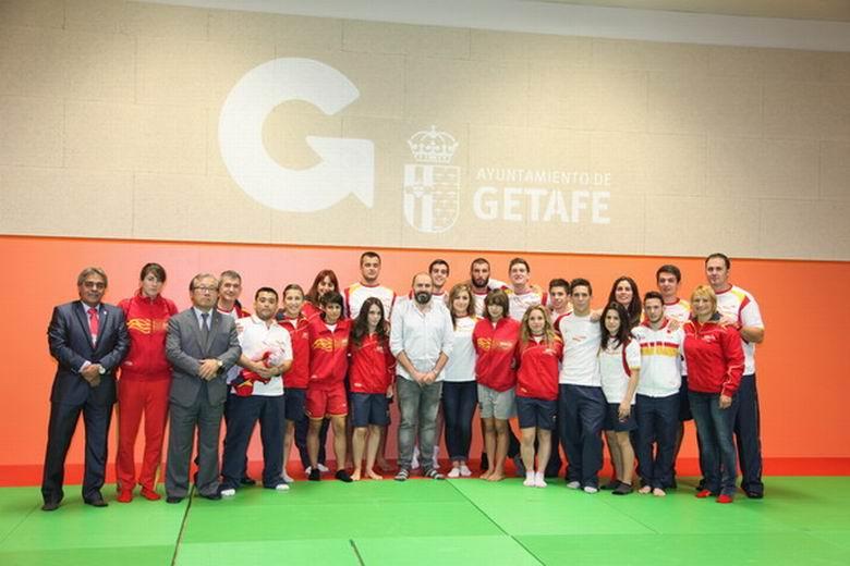 La Selección Española de Judo visitó las nuevas instalaciones del Pabellón Polideportivo 'Felipe Reyes' de Getafe