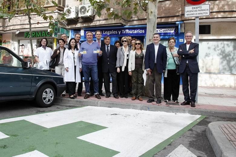 Plazas de aparcamiento reservadas para los usuarios de farmacias en Getafe