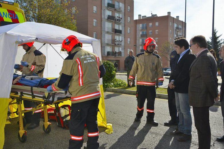 Un simulacro abre en Alcorcón la Semana de la Prevención de Incendios