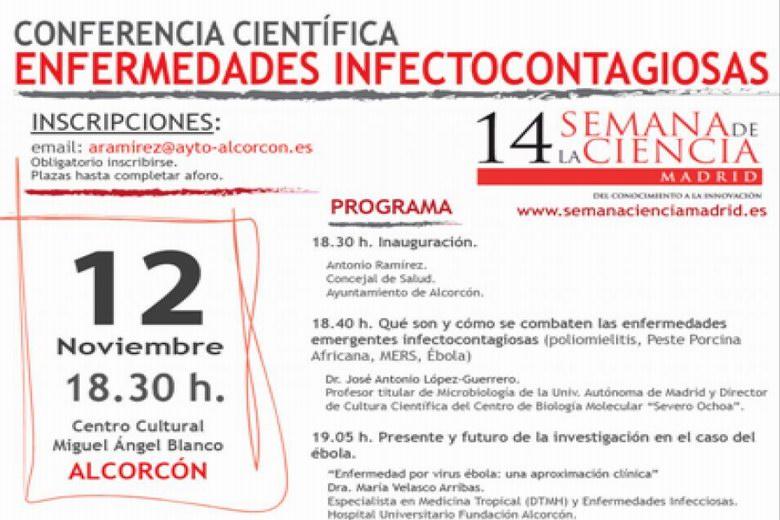 Conferencia científica sobre enfermedades infectocontagiosas en Alcorcón