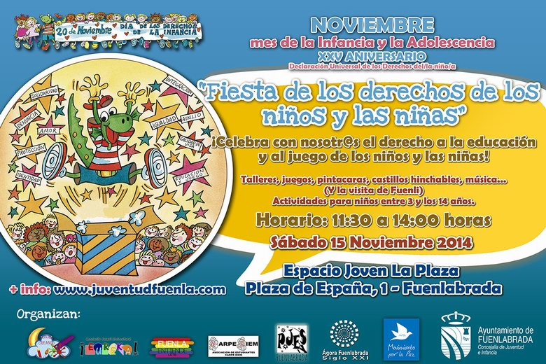 Fiesta de los Derechos de la Infancia el próximo sábado 15 de Noviembre en Fuenlabrada