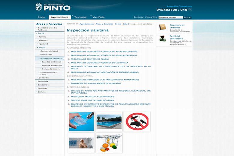 Premiada la sección de Inspección Sanitaria de la web municipal de Pinto