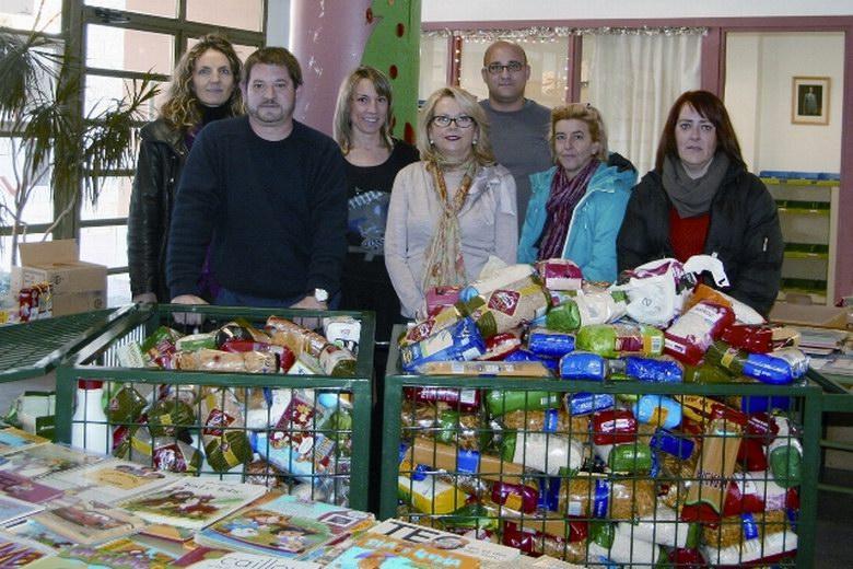 Campaña navideña de recogida de alimentos en centros escolares de Sevilla La Nueva