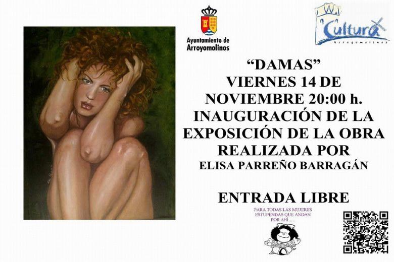 Exposición de Elisa Parreño en Arroyomolinos contra la violencia de género