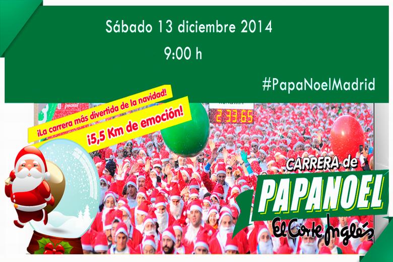 El sábado 13 de Diciembre tendra lugar la carrera de Papá Noel en Madrid