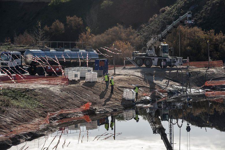 La mayor restauración de un espacio natural contaminado por hidrocarburos en Arganda