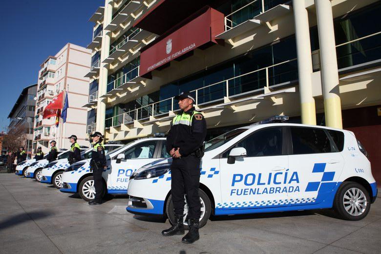 Cinco nuevos vehículos se incorporan al parque móvil de la Policía Local de Fuenlabrada