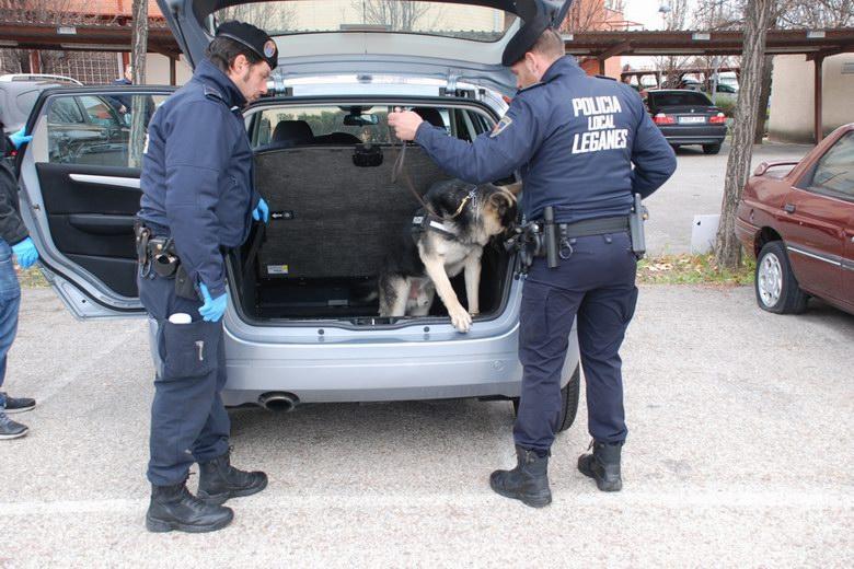 La Unidad Canina de la Policía Local de Leganés incauta 3.000 pastillas de 'éxtasis'