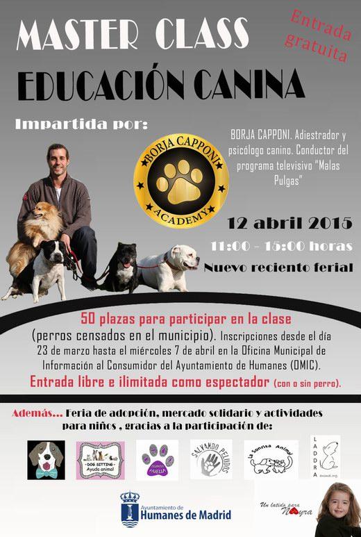 Cartel MASTER CLASS 'EDUCACIÓN CANINA'