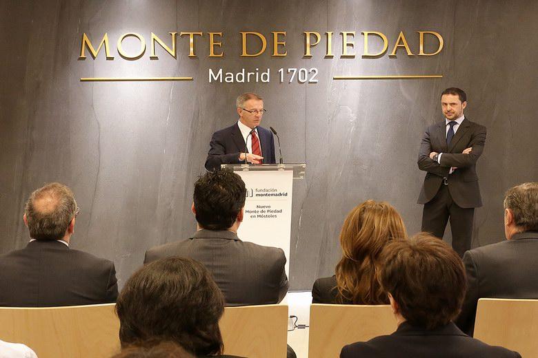 José Guirao, Director General de la Fundación Montemadrid y Santiago Gol