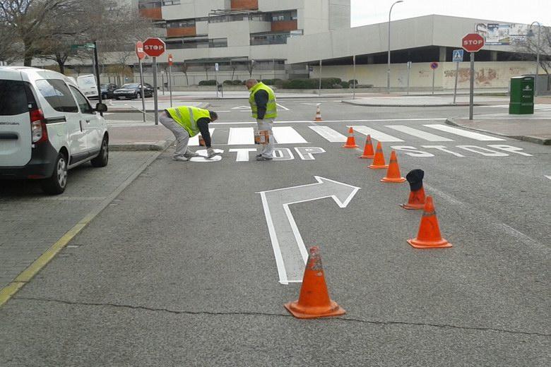 Pinto pone en marcha un nuevo Plan de Actuación sobre Marcas Viales y Pasos de Peatones