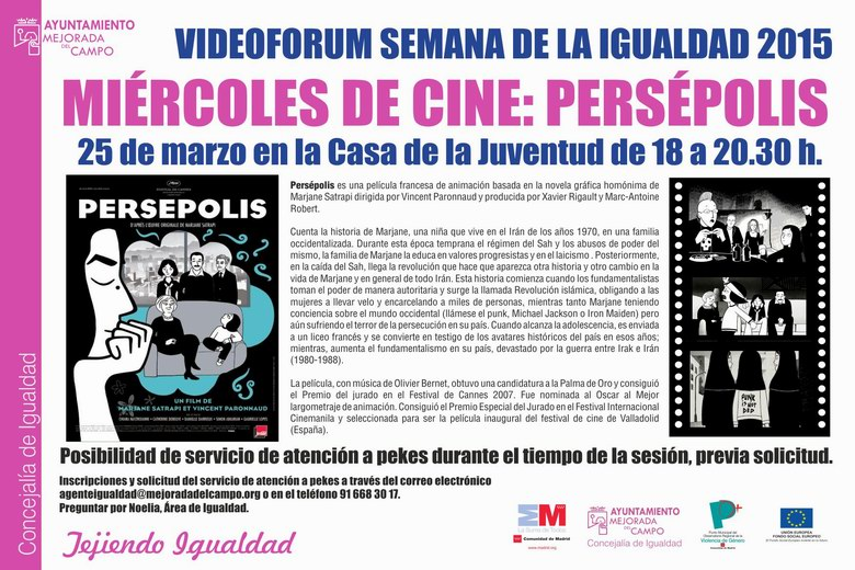 Cine fórum por la Igualdad en Mejorada del Campo