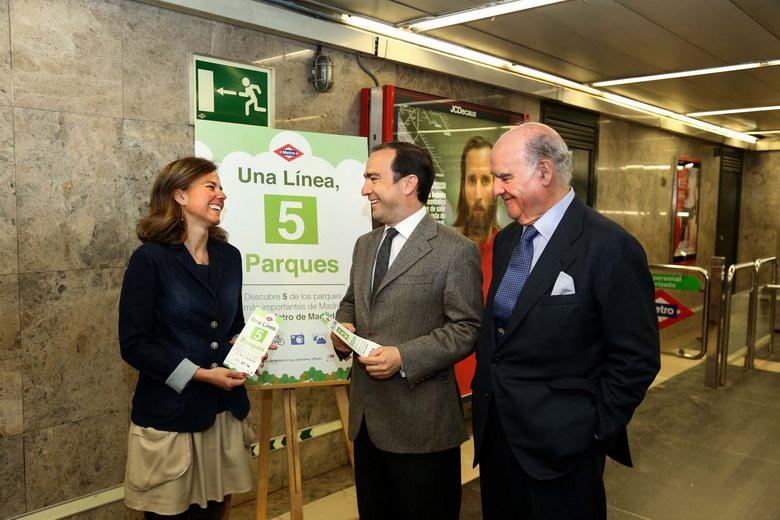 Metro descubre a los viajeros de la L5 los parques más importantes de Madrid