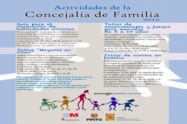 El Ayuntamiento de Pinto presenta diversos talleres para el bienestar de toda la familia