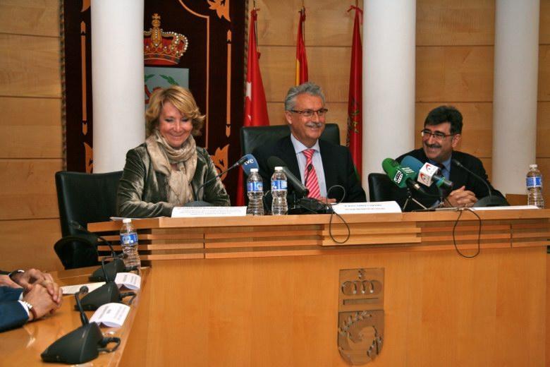 Esperanza Aguirre asiste en Coslada a la jornada técnica de la Asociación Española de Parques y Jardines Públicos