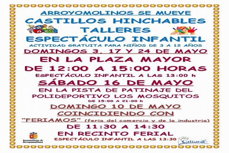 """Actividades para los peques en """"Arroyomolinos se mueve"""""""