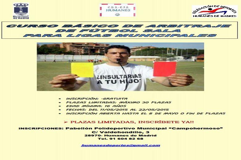 """Curso básico de """"Arbitraje de Fútbol Sala para ligas municipales"""" en Humanes"""
