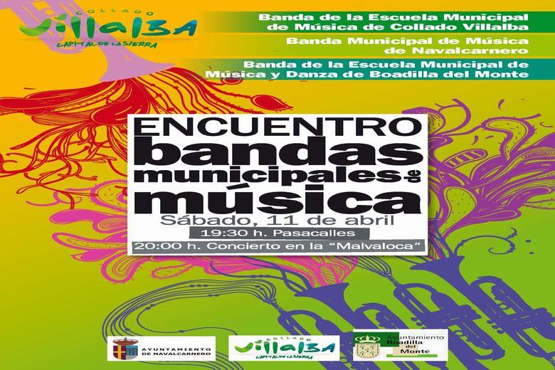 Encuentro de bandas municipales de música en Collado Villalba