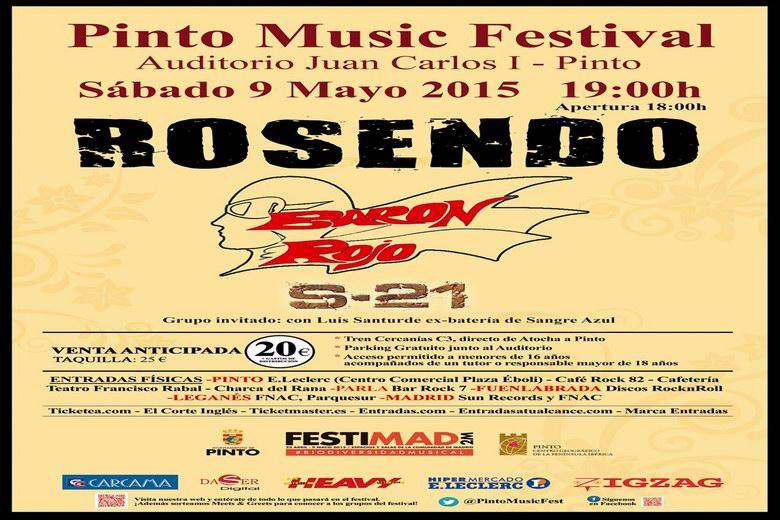 Rosendo y Barón Rojo en la I Edición del Pinto Music Festival