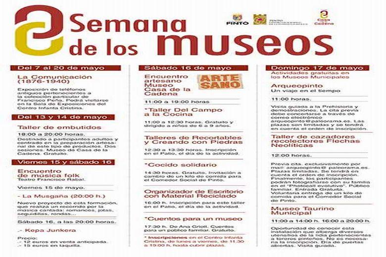 Pinto conmemora el Día de los Museos con diversas actividade lúdicas y culturales