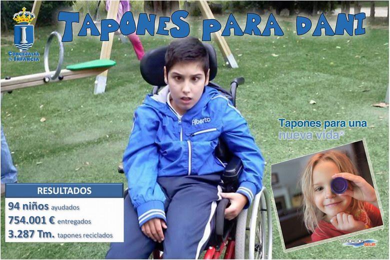 """Nueva campaña solidaria en Humanes: """"Tapones para Dani"""""""