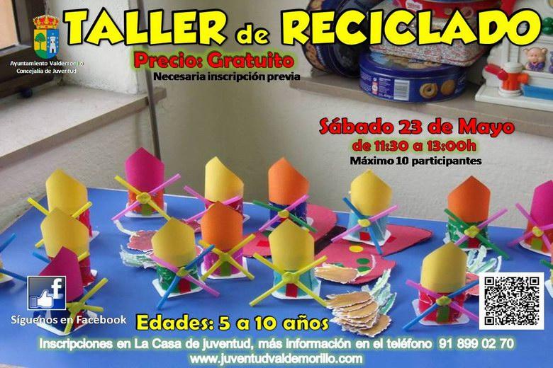 Taller de reciclado para fomentar la creatividad de los peques en Valdemorillo