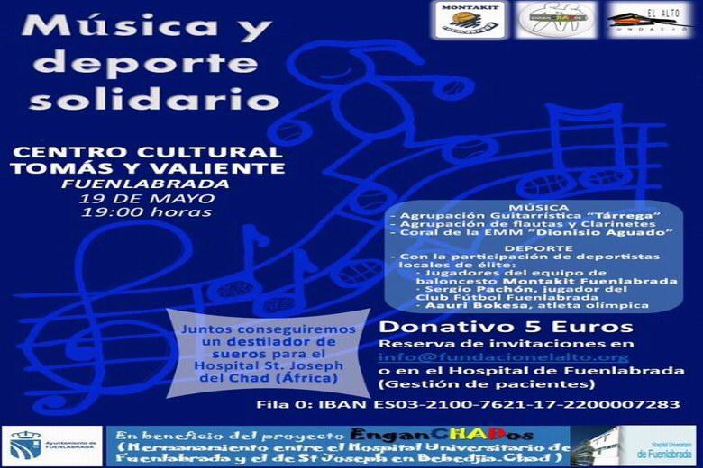 Música y Deporte solidario en Fuenlabrada