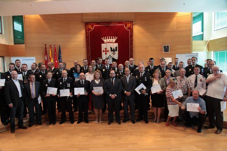 Reconocimiento a las fuerzas de seguridad y a sus colaboradores en Alcobendas