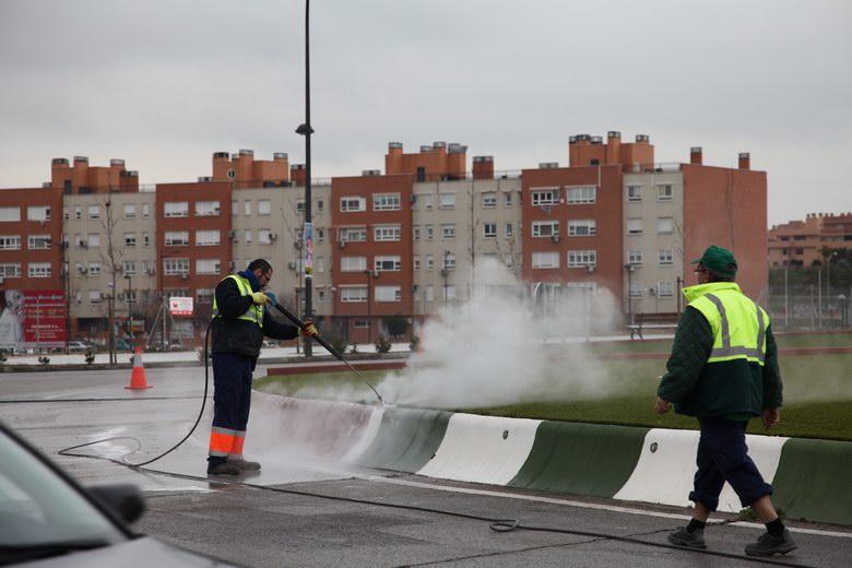 Getafe pone en marcha un plan especial de hidrolimpieza en todos los barrios