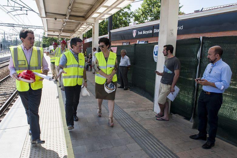 Avanzan las obras de accesibilidad en la Estación de Cercanías de Pozuelo