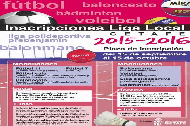 Getafe abre la segunda fase de inscripción para las ligas locales