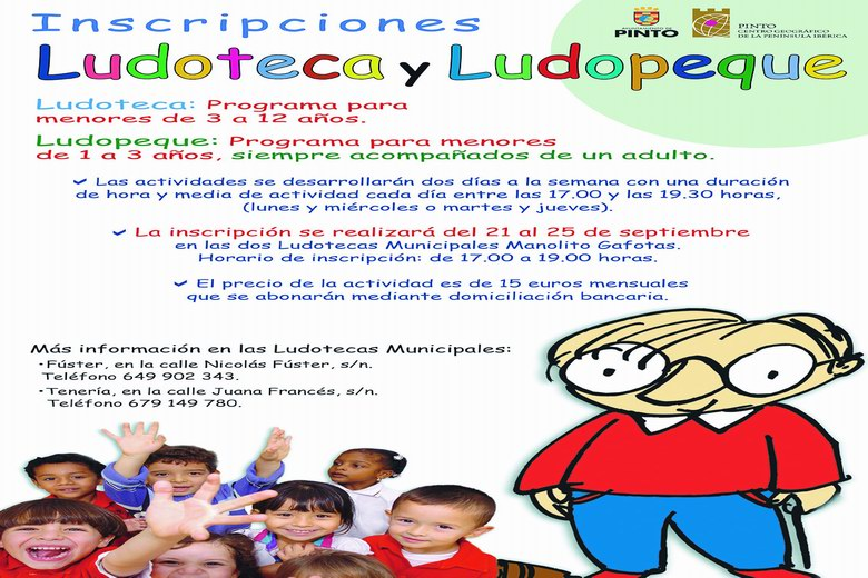 Pinto ofrece nuevos programas de Ludoteca y LudoParque