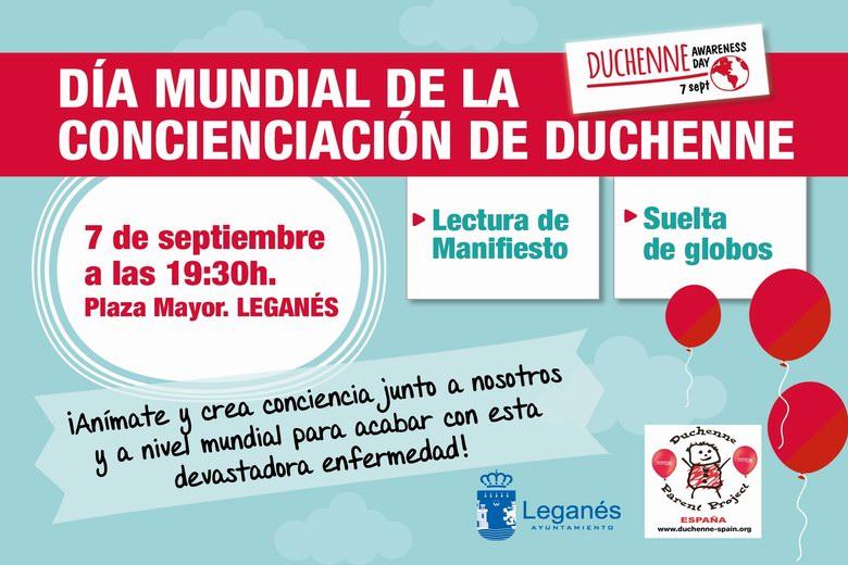 Acto público en Leganés por el Día Mundial de la Concienciación de la Distrofia de Duchenne.