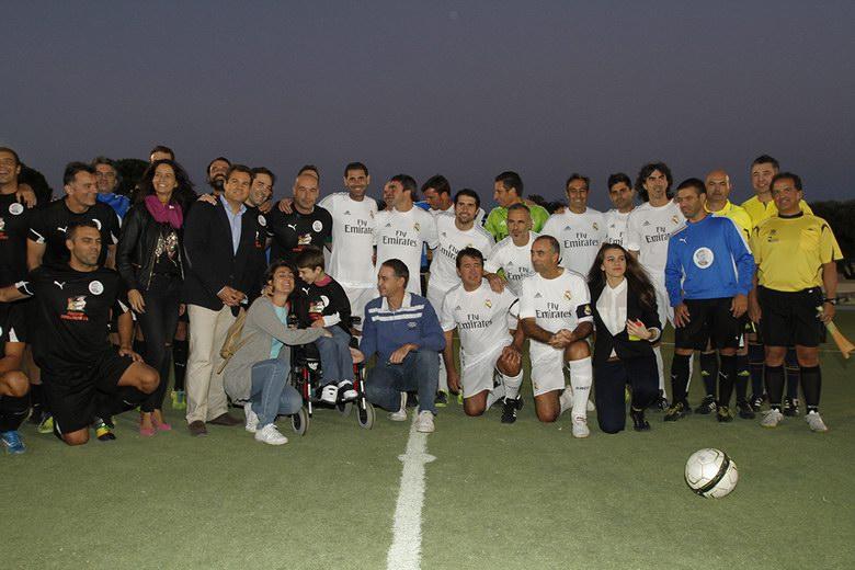 Veteranos del Real Madrid disputaron el partido homenaje a Ramón Grosso en Las Rozas
