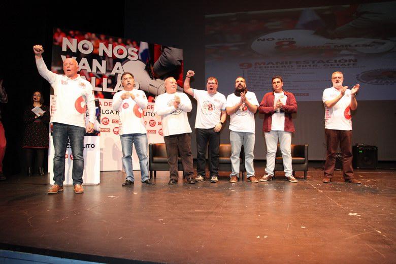 Getafe llena el Teatro Federico García Lorca en apoyo a 'Los 8 de Airbus'