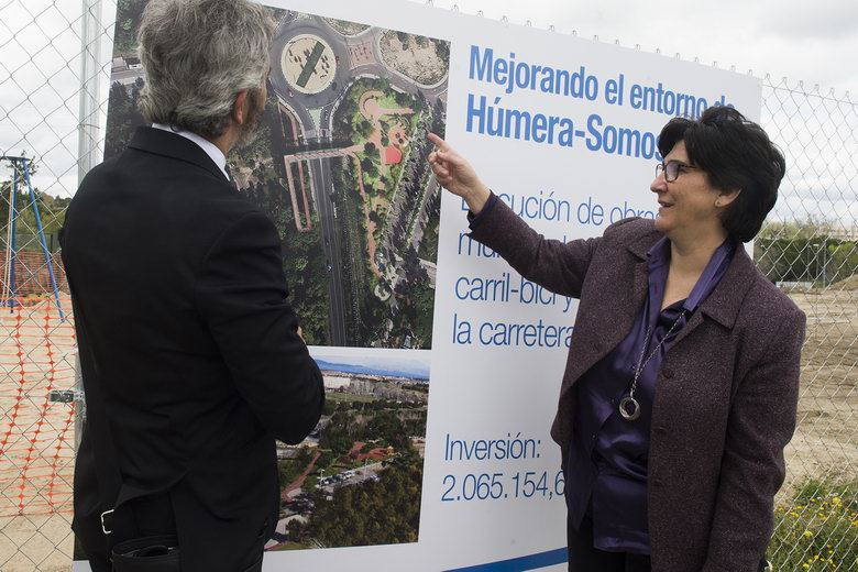 Pozuelo construye un parque, un carril bici y una pasarela peatonal sobre la M-508 que unirá Húmera y Somosaguas