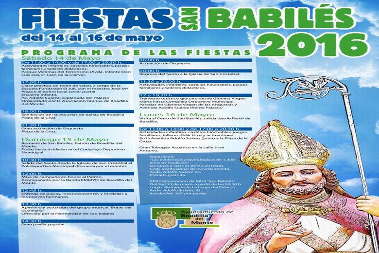 Programación de las Fiestas de San Babilés de Boadilla