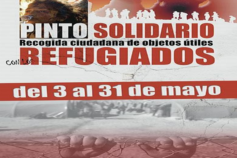 Pinto supera los 3.000 objetos recogidos dentro de su campaña a favor de los refugiados