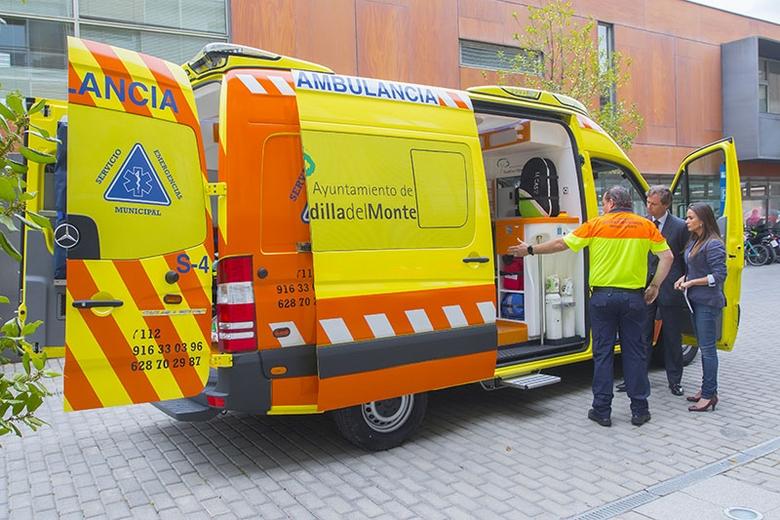 La red de emergencias de Boadilla incorpora una UVI móvil con la más moderna equipación médica