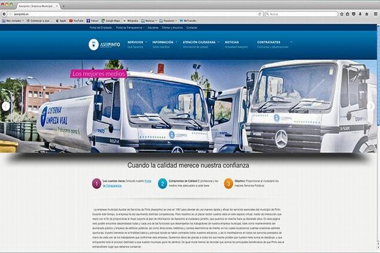 Aserpinto presenta nueva web para acercar sus servicios a la ciudadanía de Pinto