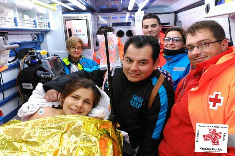 Cruz Roja y SUMMA 112 atienden un parto en un domicilio de Pinto