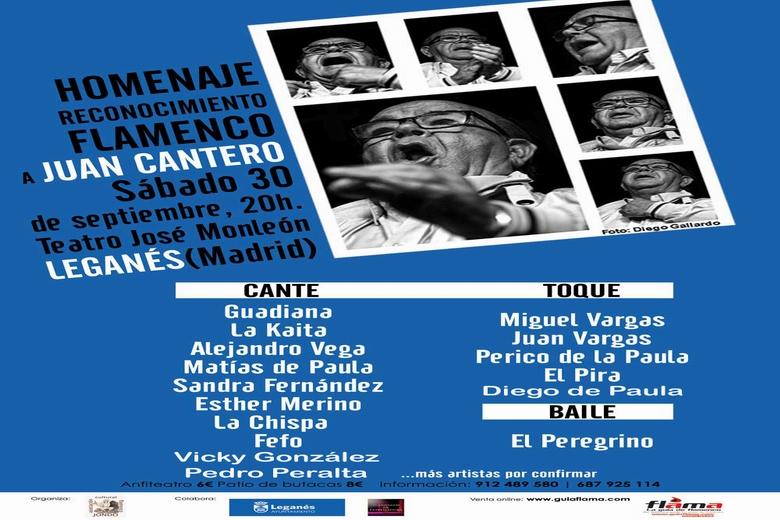 Leganés acoge este sábado un homenaje al cantaor Juan Cantero