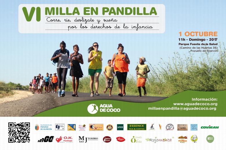 El domingo 1 de Octubre se celebra en Pozuelo la carrera solidaria 'Milla en Pandilla'