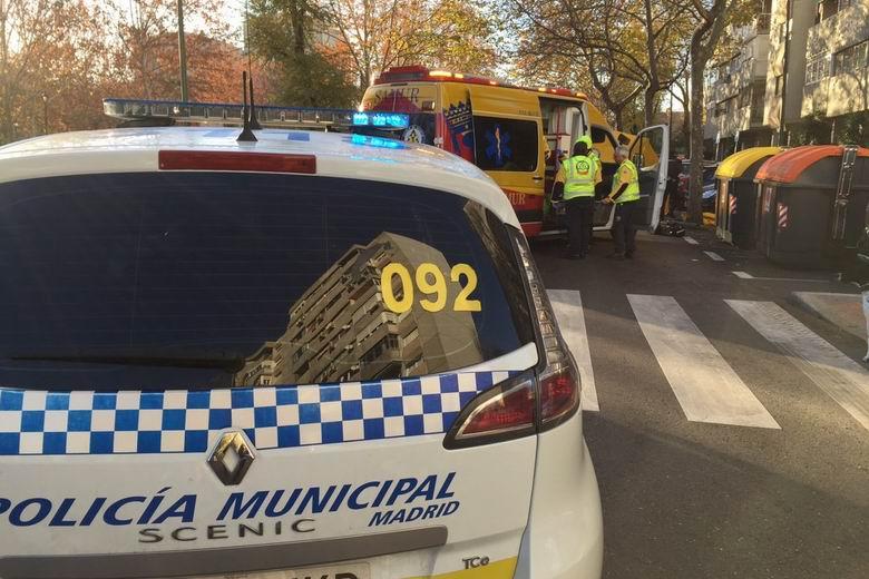 Herida grave una mujer de 79 años tras ser atropellada en Madrid