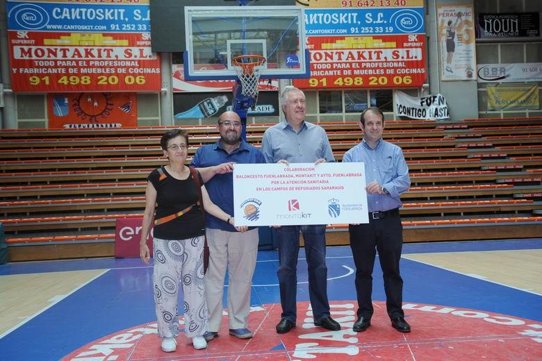 El Ayuntamiento de Fuenlabrada, Montakit y el Club de Baloncesto de la ciudad colaboran para enviar atención sanitaria a los campamentos saharauis