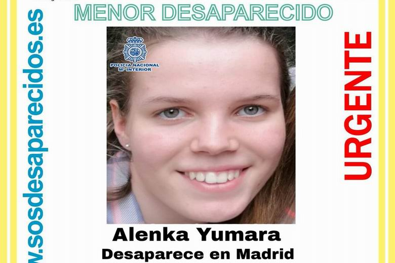 SOS Desaparecidos busca a una menor de 15 años desaparecida en Madrid