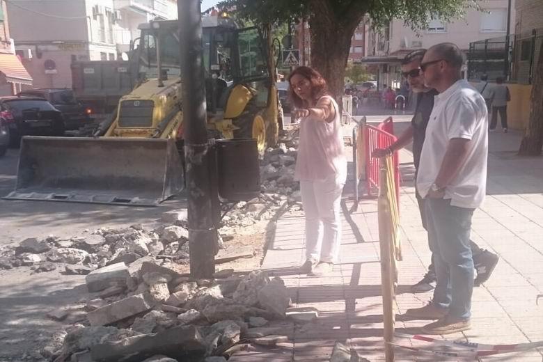 Getafe ha comenzado las obras para mejorar la accesibilidad de las calles Sánchez Morate y Cataluña